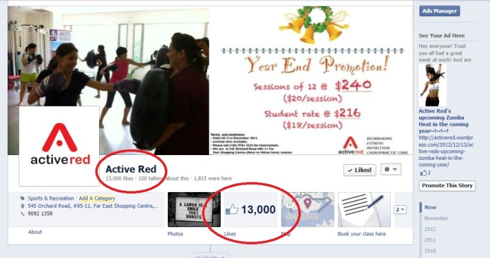 Active Red Facebook Page