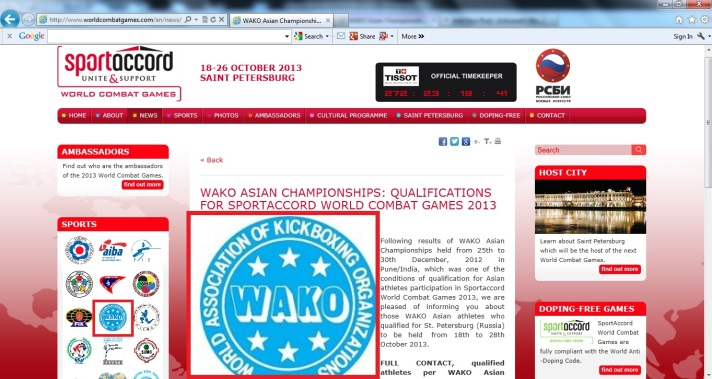 Sport Accord Games - WAKO 1