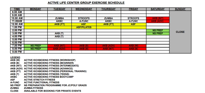 ALC Group X Schedule screenshot_13Dec13