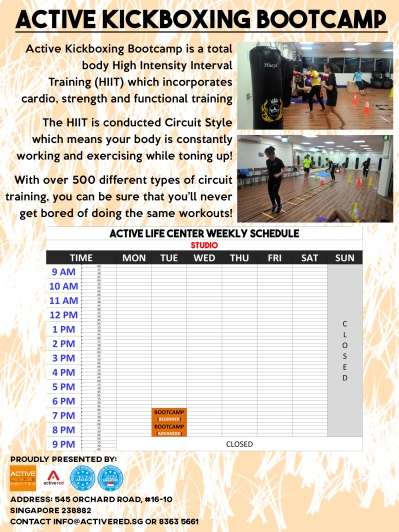 Active Kickboxing Bootcamp Poster copy
