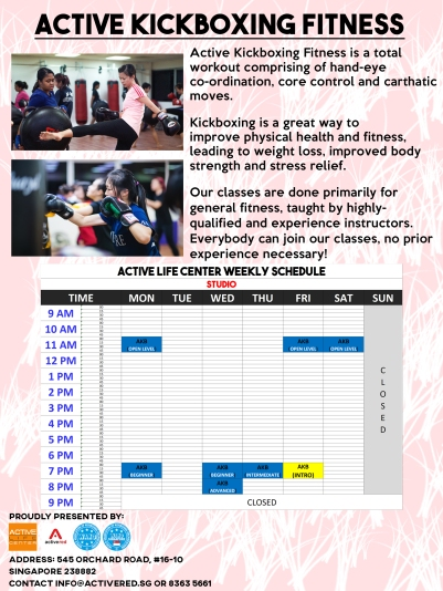 Active Kickboxing Fitness Poster copy