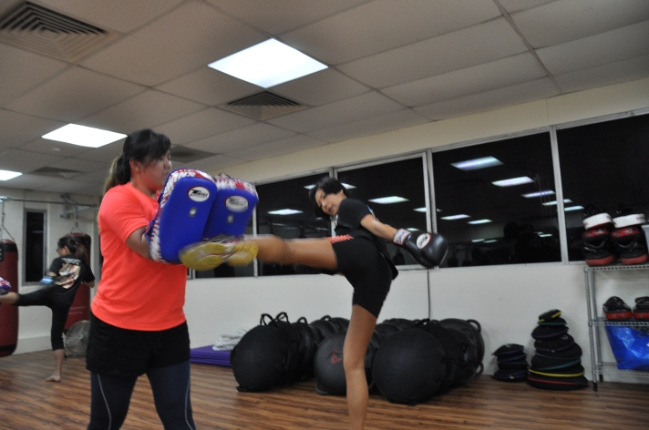 Active Red / WAKO Kickboxing Singapore : Roundhouse Kick