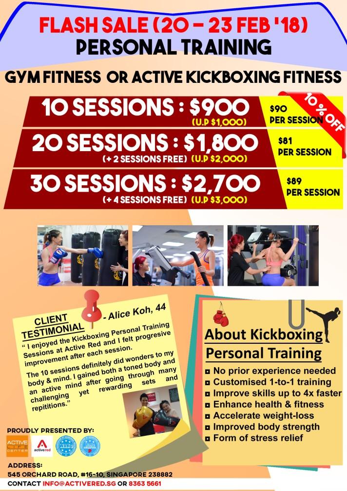 Singapore Ladies Kickboxing Personal Training