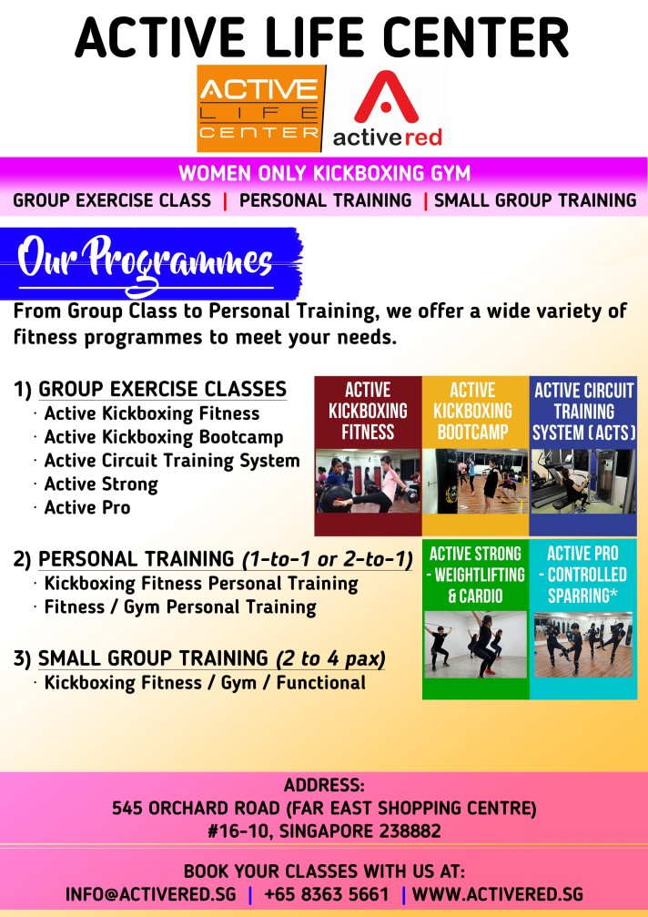 Active Red Gym and Kickboxing Fitness - Women only Gym and Kickboxing Fitness 300m from Orchard Road