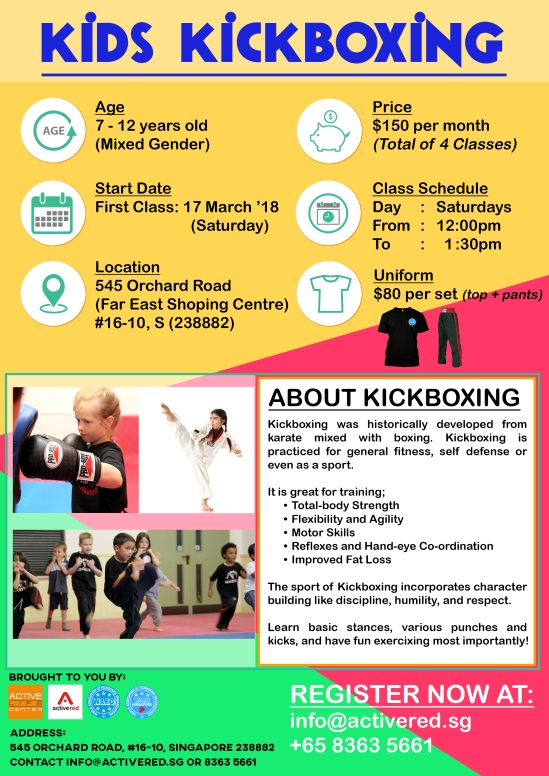 Active Red Gym and Kickboxing Fitness - Kids Kickboxing Class