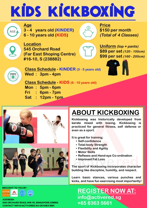 Active Red Gym and Kickboxing Fitness - Kids Kickboxing at Orchard