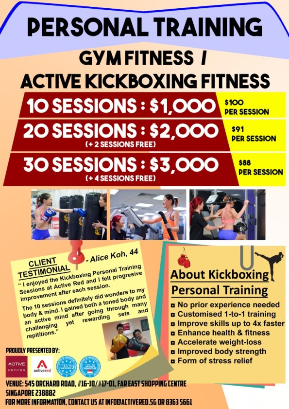 Active Red Kickboxing Fitness and Gym - Kickboxing Personal Training in Orchard