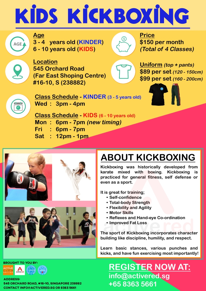 Active Red Gym and Kickboxing Fitness - Kids Kickboxing Class in Orchard (new timing)