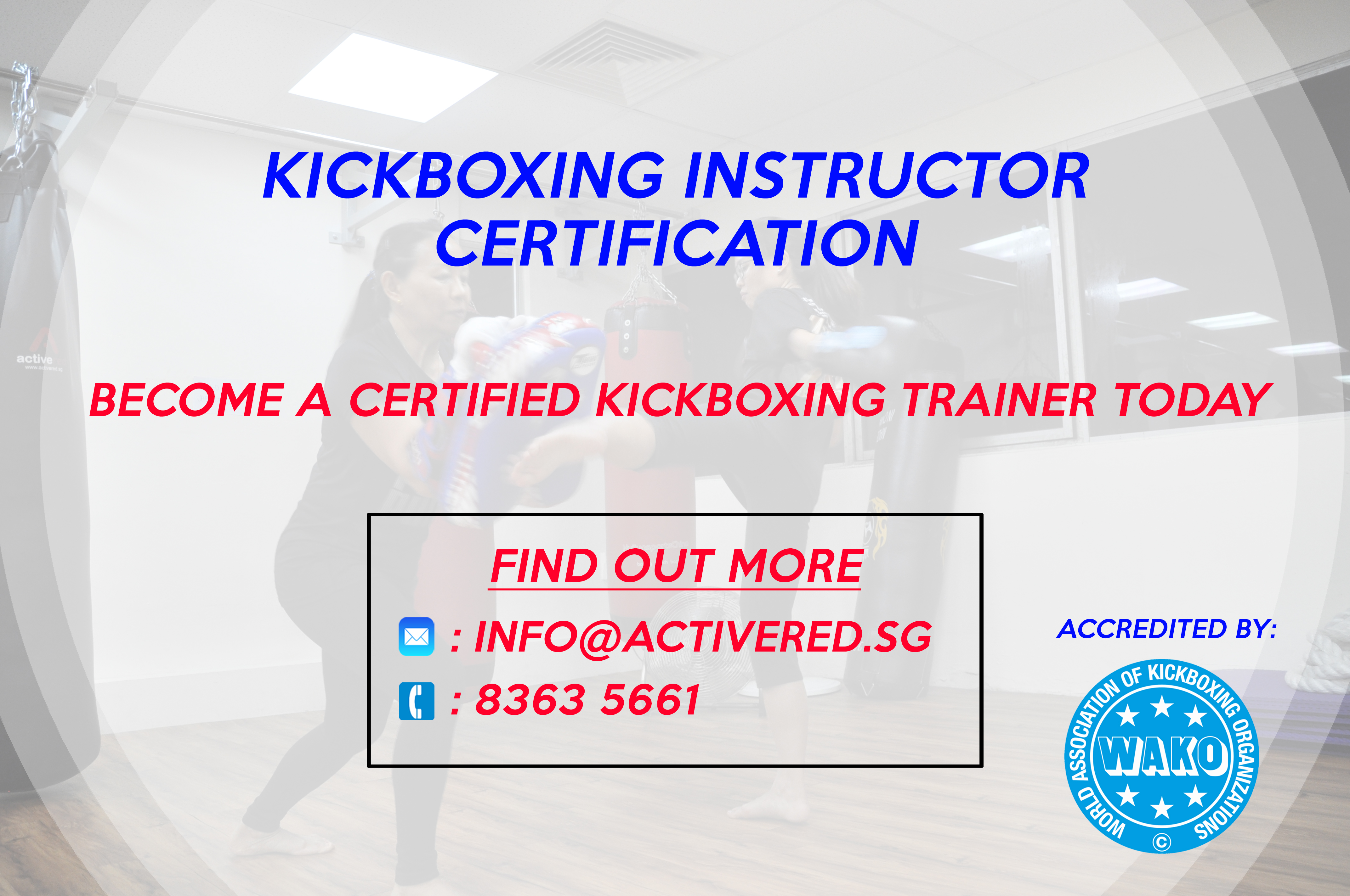 Kickboxing Trainer Certification Active Red