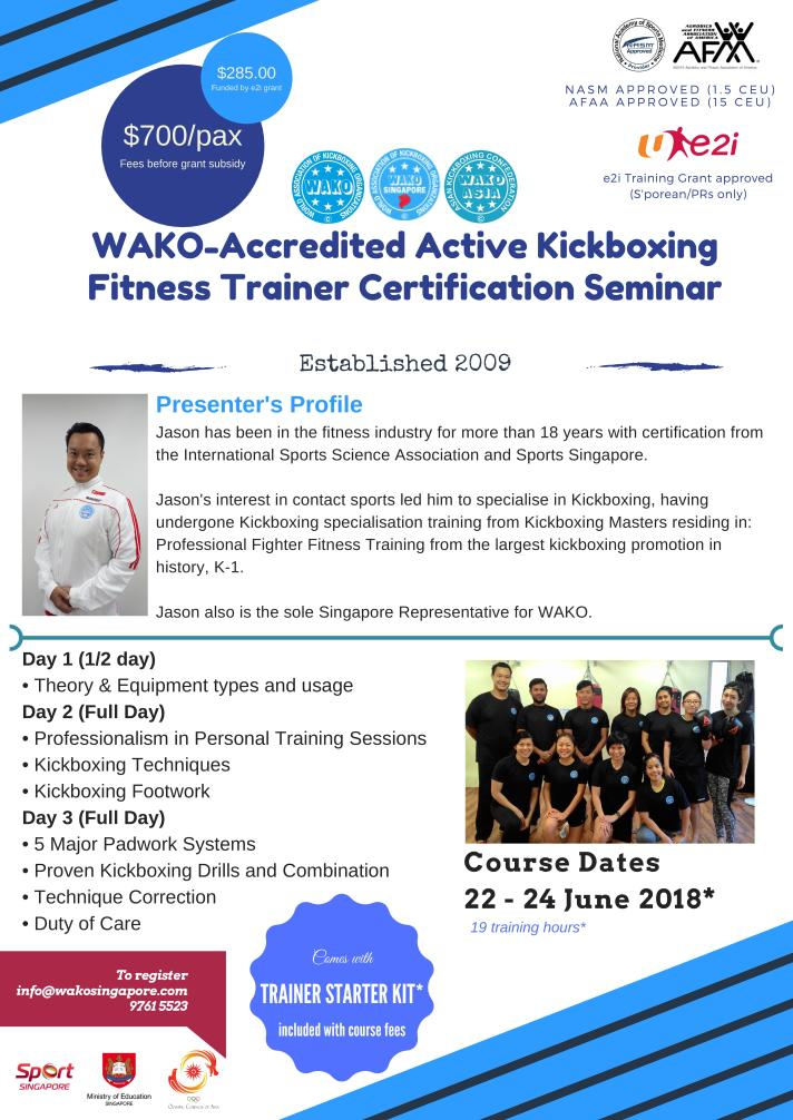 Get Certified As An Active Kickboxing Fitness Trainer Today