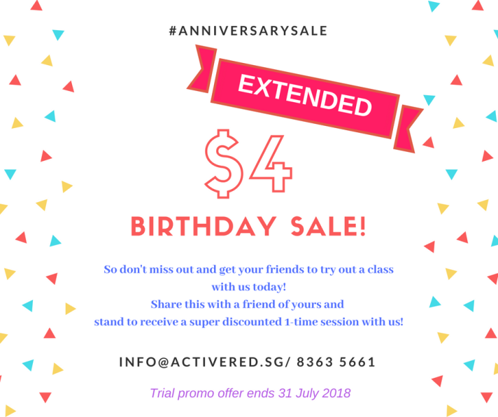 Active Red Gym and Kickboxing Fitness - Women only Gym $4 Birthday Sale